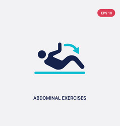 Two color abdominal exercises icon from gym and vector