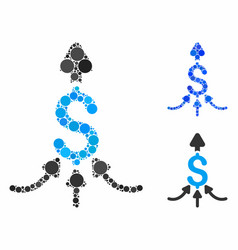 Unite payments mosaic icon round dots vector