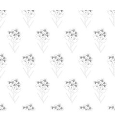 Vanda miss joaquim orchid seamless on white vector