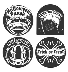 Vintage halloween emblems vector image