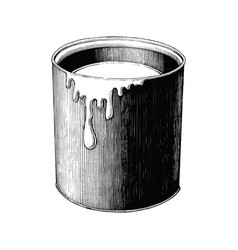 vintage paint can hand drawing clip art isolated vector image