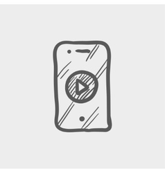 Volume control sketch icon vector image