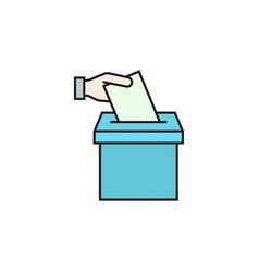 Vote line icon vector
