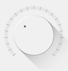 White technology volume knob vector