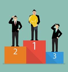 Winner is businessman who has an idea vector