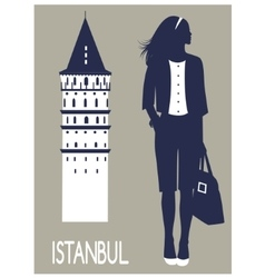 Woman in Istanbul vector