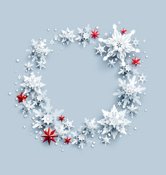 wreath and stars vector image