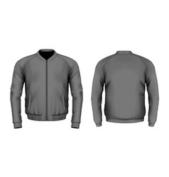 bomber jacket in black vector image vector image