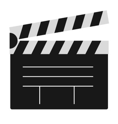 Cinema film clapper board vector