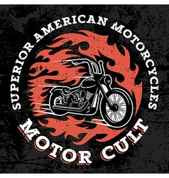 Classic chopper motorcycle vector image vector image