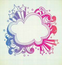 cloud doodle vector image