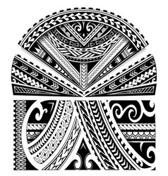 Maori style sleeve ornament vector