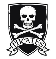 pirates emblem vector image