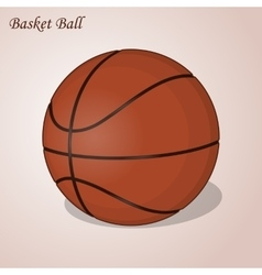 Basket ball isolated on a pink background simple vector