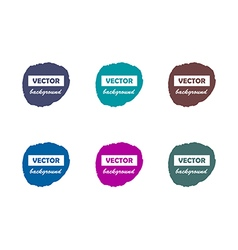 Colorful round paint stains for your text set vector image