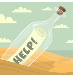 Message in the bottle vector image vector image