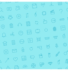 seamless icons interface symbols color vector image