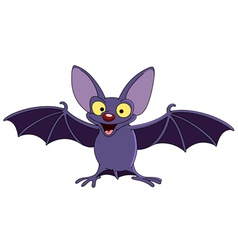 bat with spread wings vector image vector image