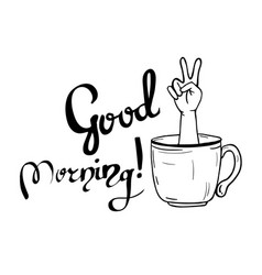 good morning lettering for poster vector image vector image