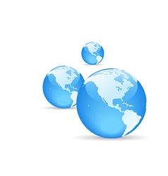 shiny globe with shadow vector image