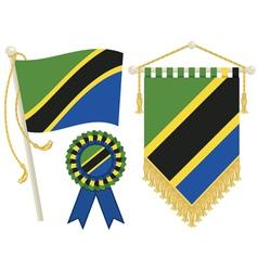 tanzania flags vector image
