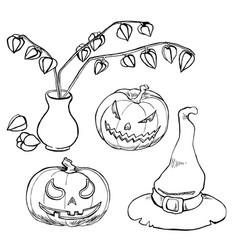 ink line for halloween vector image vector image