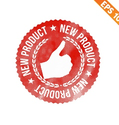 Rubber stamp new product - - EPS10 vector image vector image