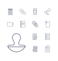 13 document icons vector