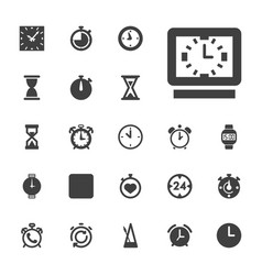 22 timer icons vector
