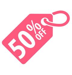 50 percent off tag vector