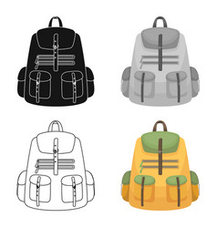 A backpack for thingstent single icon in cartoon vector