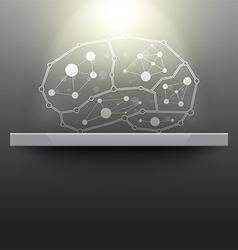 Abstract brain exhibition museum vector
