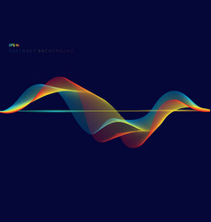Abstract colorful digital equalizer wave lines on vector