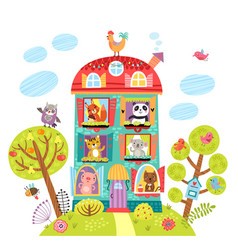 animals in house vector image