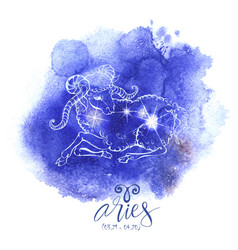 astrology sign aries vector image