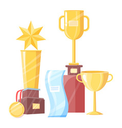 awards set of different shape vector image