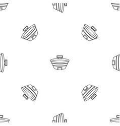 baseball sport arena pattern seamless vector image