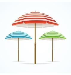 Beach Umbrella Set vector image