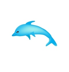 Beautiful cartoon dolphin on isolated background vector image
