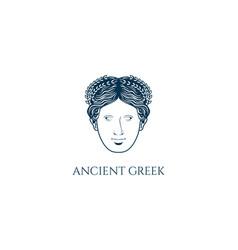 Beauty greek roman myth woman god goddess head vector