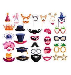 birthday party photo booth element set vector image