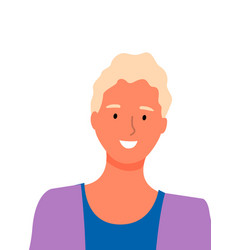 Blonde woman with perfect white smile isolated vector