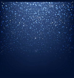blue glitter background with bokeh vector image