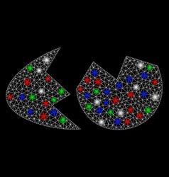 Bright mesh carcass eggshell with light spots vector