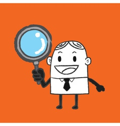 Business Man Search vector image