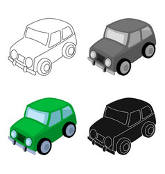 car icon in cartoon style isolated on white vector image
