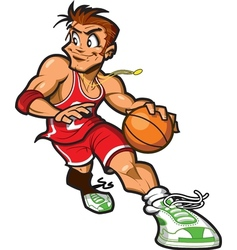 Caucasian Basketball Player vector image