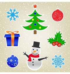 Christmas and New Year card collection vector image