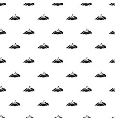 climb mountain flag pattern seamless vector image