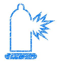 condom damage grunge icon vector image vector image